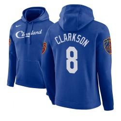 Männer Jordan Clarkson Cleveland Cavaliers und 8 Blue 2018 Stadt Ausgabe Hoodie