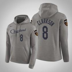 Männer Jordan Clarkson Cleveland Cavaliers und 8 Grau verdient Ausgabe PulloverHoodie