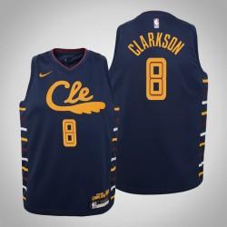 Jugend Jordan Clarkson Cavaliers & 8 Stadt Navy 2020 Saison Jersey