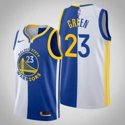 Männer Golden State Warriors Draymond Green & 23 White Blue Split Jersey