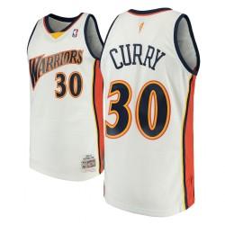 Herren Mitchell & Ness Stephen Curry Golden State Warriors und 30 2009-10 Holz Classics Weiß Swingman Jersey