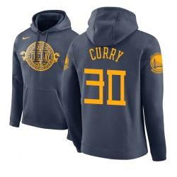 Männer Stephen Curry Golden State Warriors und 30 Navy 2018 Stadt Ausgabe Hoodie