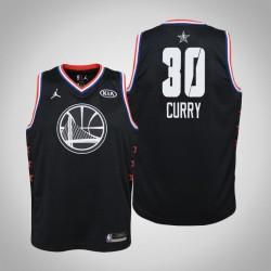 2019 NBA All-Star Jugend Golden State Warriors Stephen Curry # 30 Black Swingman Jersey