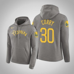 Männer Stephen Curry Golden State Warriors und 30 Grey verdient Ausgabe PulloverHoodie