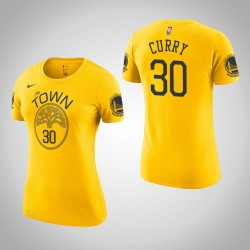 Frauen Stephen Curry Golden State Warriors und 30 verdient Gold-Name # Nummer T-Shirt