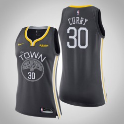 Frauen 2018-19 Saison Stephen Curry Golden State Warriors und 30 Statement Grau Swingman Trikot