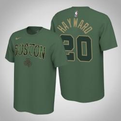 Boston Celtics und 20 Gordon Hayward verdient Grün 2020 Saison Name & Nummer T-Shirt