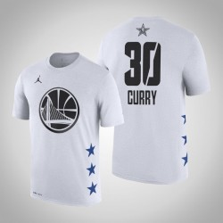 2019 NBA All-Star Game Männer Golden State Warriors Stephen Curry # 30 Weißes T-Shirt