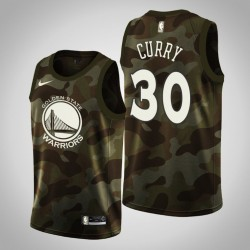 Männer Golden State Warriors Stephen Curry # 30 Camo 2019 Memorial Day Trikot