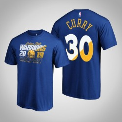 Golden State Warriors Stephen Curry # 30 2019 NBA Playoffs Western Conference Finals Bound Echt Flava königliche T-Shirt