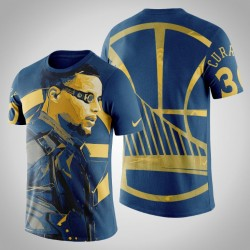 Golden State Warriors Stephen Curry # 30 Comic Deadshot DC-T-Shirt - Navy
