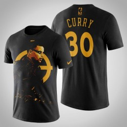 Golden State Warriors Stephen Curry # 30 Comic Deadshot DC-T-Shirt - Schwarz