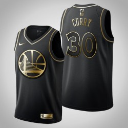 Golden State Warriors Stephen Curry # 30 Black Golden Edition Trikot