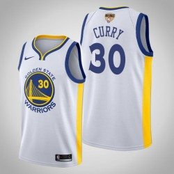 Männer Golden State Warriors Stephen Curry & 30 Weiß Vereinigung Jersey - 2019 NBA Finals