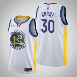 2019-20 Krieger Stephen Curry & 30 Weiß Jersey - Verband