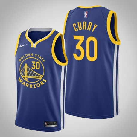 2019-20 Krieger Stephen Curry & 30 Royal Jersey - Icon