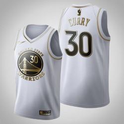 Golden State Warriors Stephen Curry & 30 Golden Edition Weiß Jersey