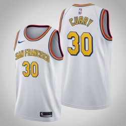 Golden State Warriors Stephen Curry & 30 Weiß 2020 Saison-Klassiker San Francisco Jersey