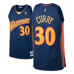 Herren Mitchell & Ness Stephen Curry Golden State Warriors und 30 2009-10 Holz Classics Navy Swingman Jersey