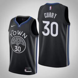2019-20 Krieger Stephen Curry & 30 Black City Jersey
