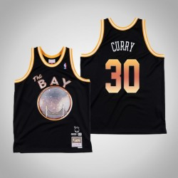 Stephen Curry & 30 Black E-40 x Golden State Warriors Swingman Mitchell Ness Limited Jersey