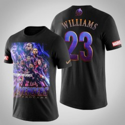 Los Angeles Clippers Lou Williams # 23 Comic Avengers Endgame T-Shirt - Schwarz
