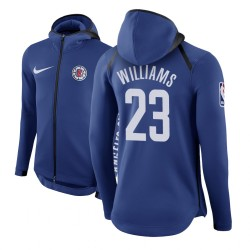 Männer Lou Williams Los Angeles Clippers # 23 Blue Therma Flex Showtime Hoodie