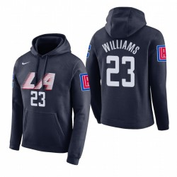 Männer Lou Williams Los Angeles Clippers # 23 Navy 2018 Stadt Ausgabe Hoodie