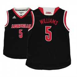 Jugend Malik Williams Jugend NCAA Louisville Cardinals # 5 Black Basketball Performance-Trikot