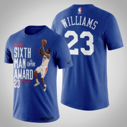 Los Angeles Clippers Lou Williams # 23 König 2019 NBA Sixth Man Auszeichnung T-Shirt