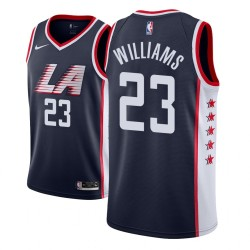 Männer NBA 2018-19 Lou Williams Los Angeles Clippers # 23 Ort Ausgabe Navy Trikot
