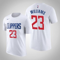 Männer Lou Williams Los Angeles Clippers # 23 Verband Weiß Name # Nummer T-Shirt
