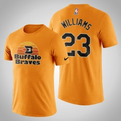 Los Angeles Clippers Lou Williams # 23 orange Classic Edition Buffalo Braves T-Shirt