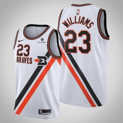 Clippers 2019-20 Lou Williams # 23 Weiß Throwback Buffalo Braves Trikot