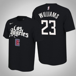 Los Angeles Clippers # 23 Lou Williams verdient Schwarz 2020 Saison Name # Nummer T-Shirt