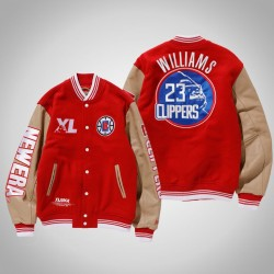 Männer Lou Williams Los Angeles Clippers # 23 Red XLARGE X New Era X NBA Bomberjacke