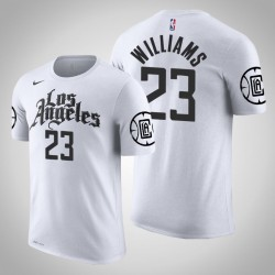 Los Angeles Clippers & 23 Lou Williams Stadt Weiß 2020 Saison Name & Nummer T-Shirt