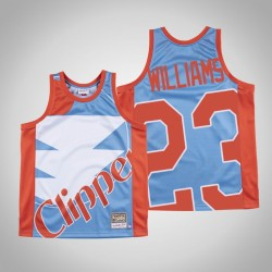 Herren Clippers Lou Williams & 23 Blue Big Gesicht Hartholz Classics Jersey