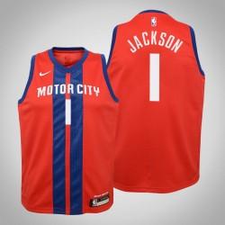 Jugend Reggie Jackson Kolben # 1 Stadt Red 2020 Saison Trikot