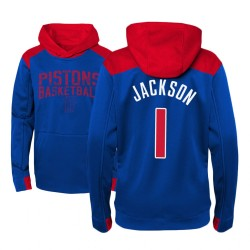 Jugend Reggie Jackson Detroit Pistons # 1 Royal Off The Court Hoodie