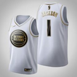 Detroit Pistons Reggie Jackson & 1 Golden Edition Weiß Jersey