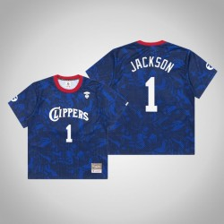 Clippers Reggie Jackson & 1 AAPE x Mitchell Ness Swingman Holz Classics Jersey Royal