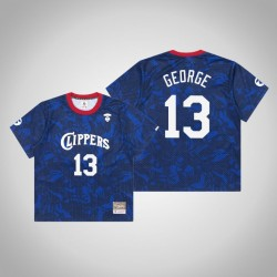Clippers Paul George & 13 AAPE x Mitchell Ness Swingman Holz Classics Jersey Royal