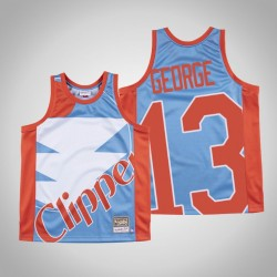 Herren Clippers Paul George & 13 Blue Big Gesicht Hartholz Classics Jersey