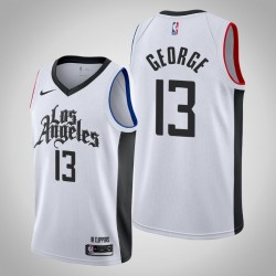 2019-20 Clippers Paul George & 13 White City Jersey