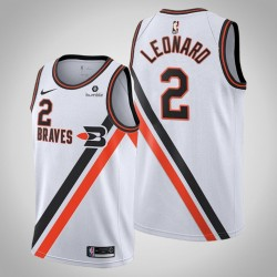 Clippers 2019-20 Kawhi Leonard & 2 White Throwback Buffalo Braves Jersey