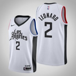 2019-20 Clippers Kawhi Leonard & 2 White City Jersey