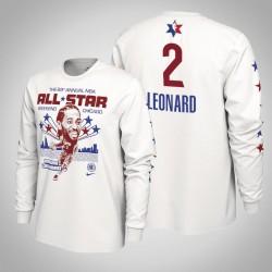 Clippers Kawhi Leonard & 2 2020 NBA All-Star Weekend Spieler-Grafik-Langarmshirt Weiß T-Shirt