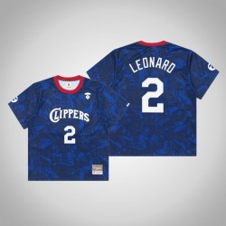 Clippers Kawhi Leonard & 2 AAPE x Mitchell Ness Swingman Holz Classics Jersey Royal