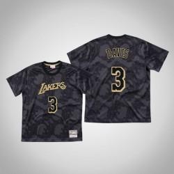 Lakers Anthony Davis & 3 Black Toile Mesh-schwarzes T-Shirt